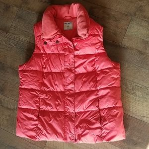 Coral Puffy Winter Vest
